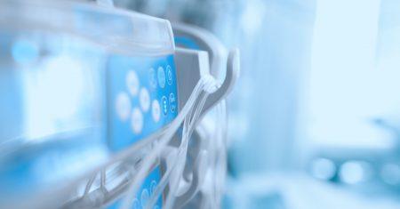Medical equipment in the ICU ward in hospital
